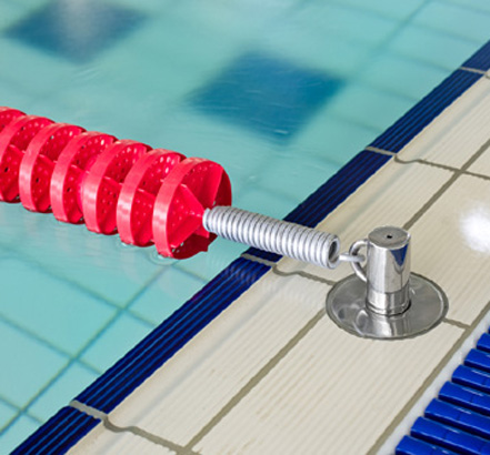Swimming Pool Lane Line Ropes And Fixings