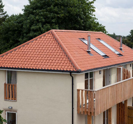 Sandtoft Supplied Old English Clay Pantiles For The