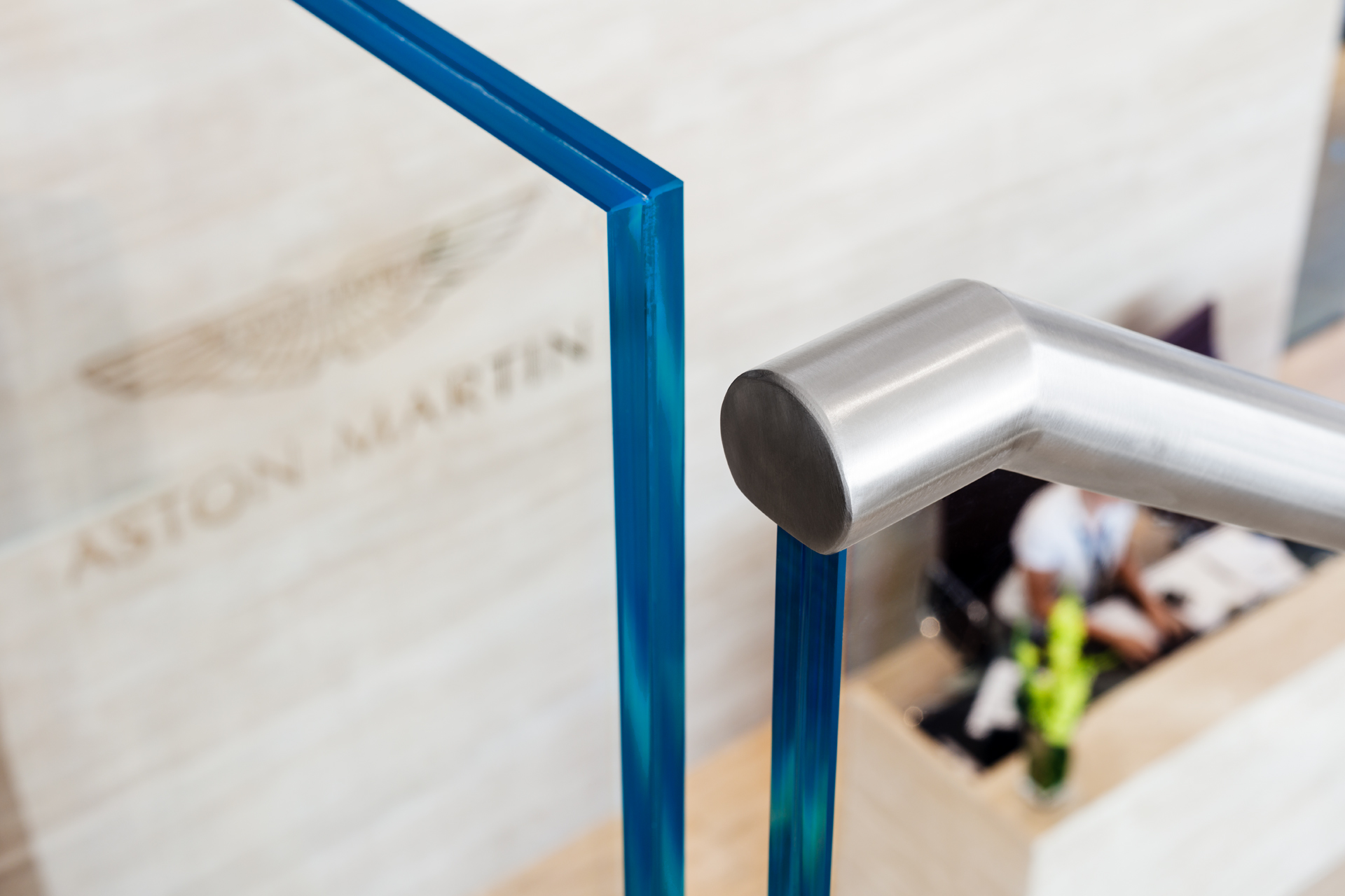 M&Gs feature stair case for the Aston Martin Showroom