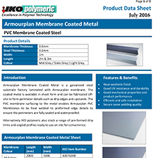 Armourplan Membrane Coated Metal Data sheet