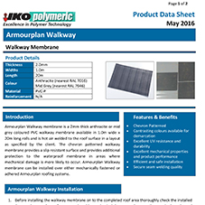Armourplan Walkway Data sheet