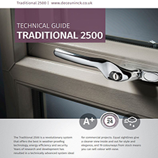 Traditional 2500 Casement Window Technical data