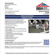 Composite K-Screed BBA Certification
