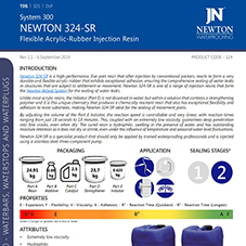 Newton 324-SR Injection Resin - a high performance, five-part injection resin