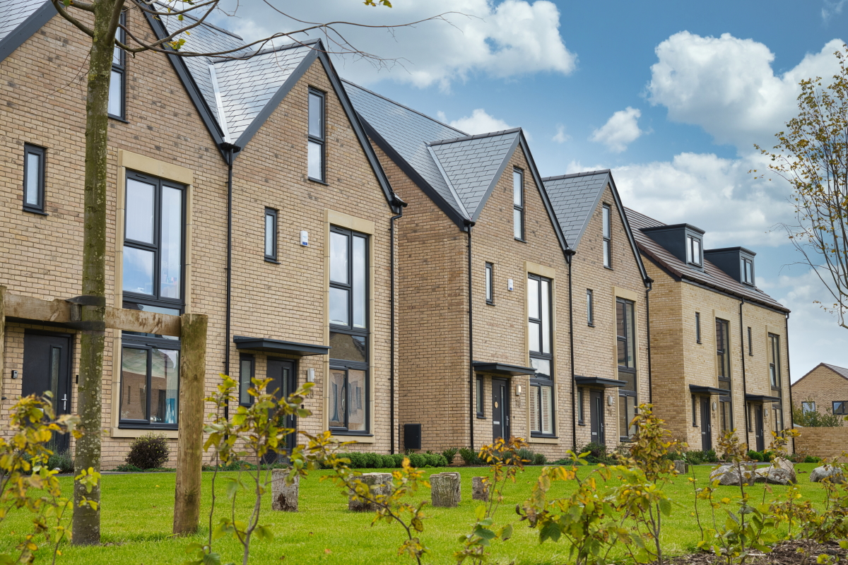 Profile 22 Optima casement windows and doors selected for housing development