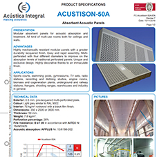 ACUSTISON-50A Absorbent Acoustic Panels