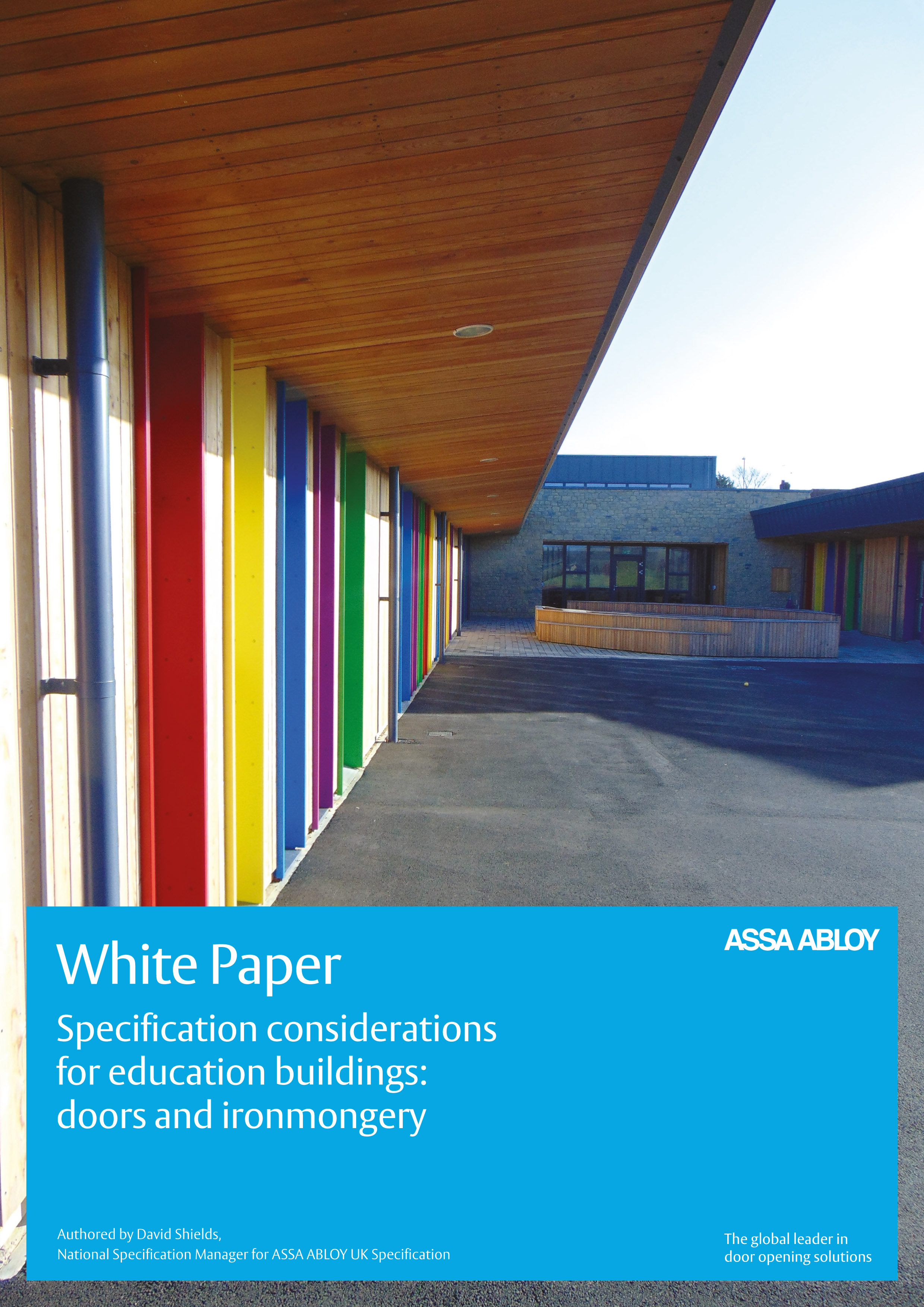 Whitepaper on specification considerations for education settings