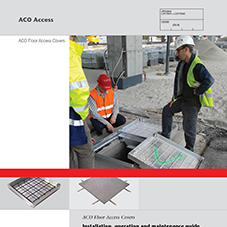 Floor Access Covers Installation, operation & maintenance guide