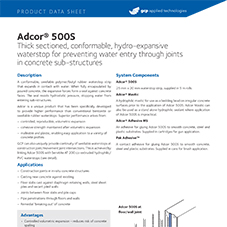 Adcor 500S product data