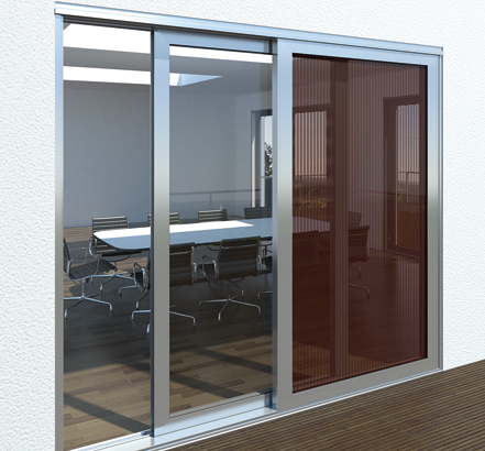 schueco lift sliding door now offered with thin film pv option. Black Bedroom Furniture Sets. Home Design Ideas