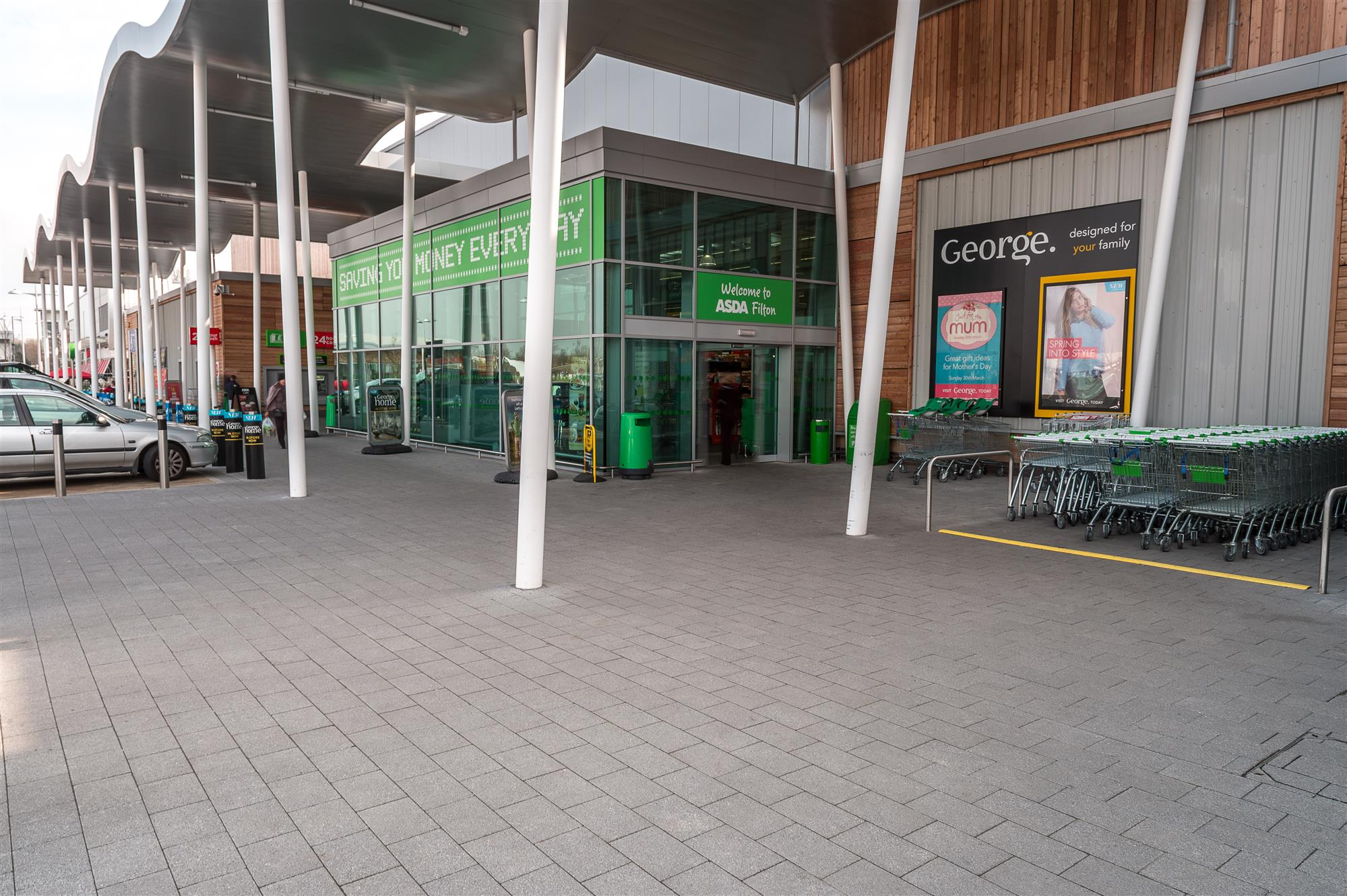 Modern block paving for Abbey Wood Shopping Park