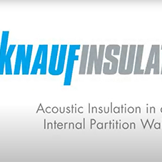 Knauf Insulation - Acoustic Insulation in an Internal Partition Wall