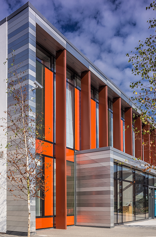 Aluminium rainscreen cladding at Uxbridge College, London
