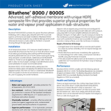 Bituthene 8000/8000S product data