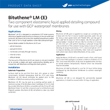 Bituthene LM (E) product data
