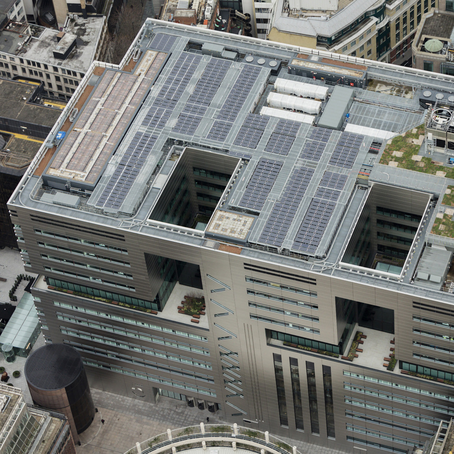 5 Broadgate in London has a highly performing flat roof with a lot of plant and green roof areas for amenity