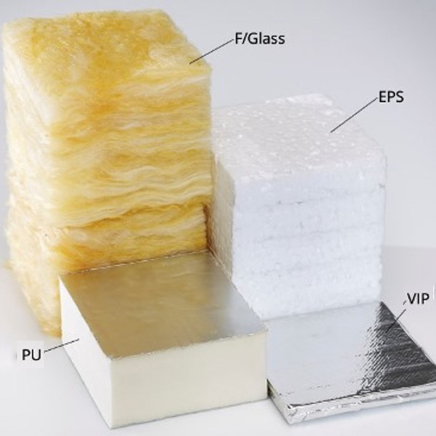 2. Compare Insulation Depth Fibreglass EPS PIR VIP