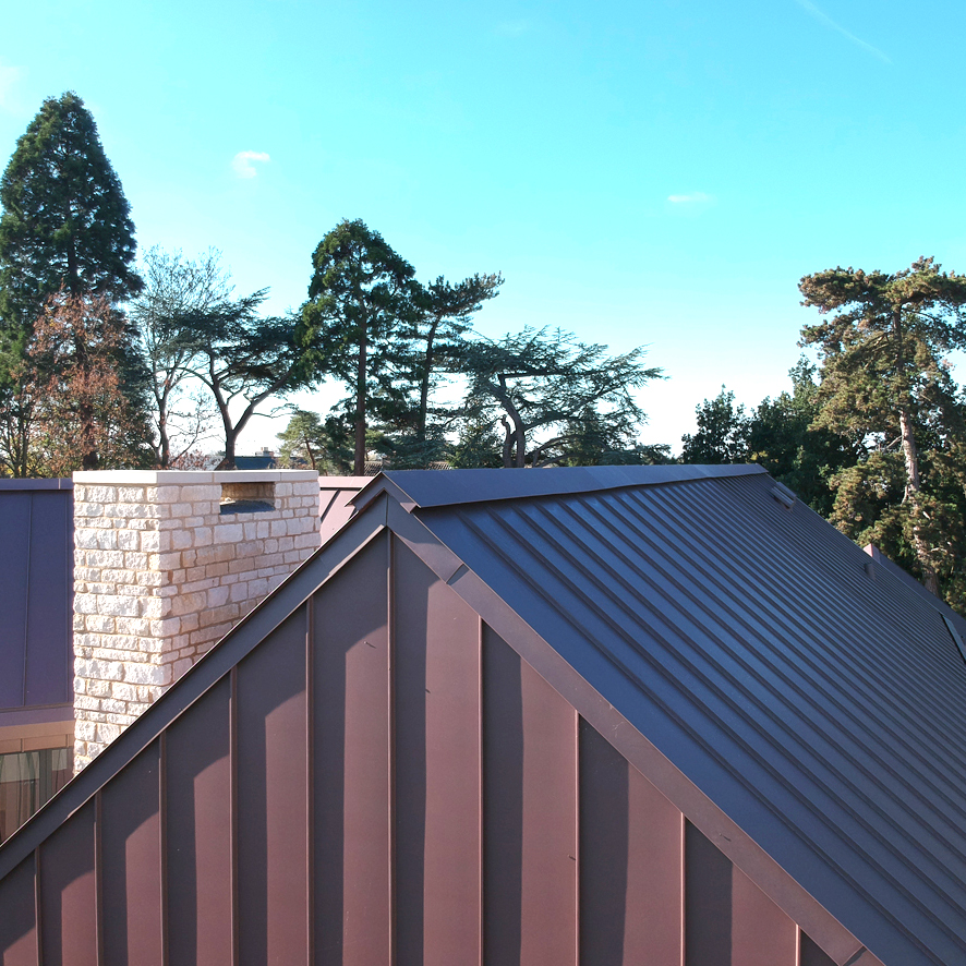 SIG Zinc clad demonstration house in Bedfordshire