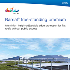 Barrial Freestanding roof edge protection - premium variations