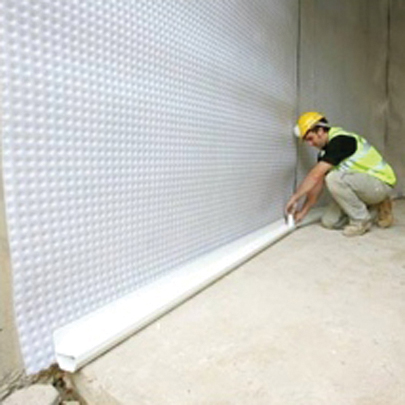 cavity drain membrane for basement waterproofing newton 508