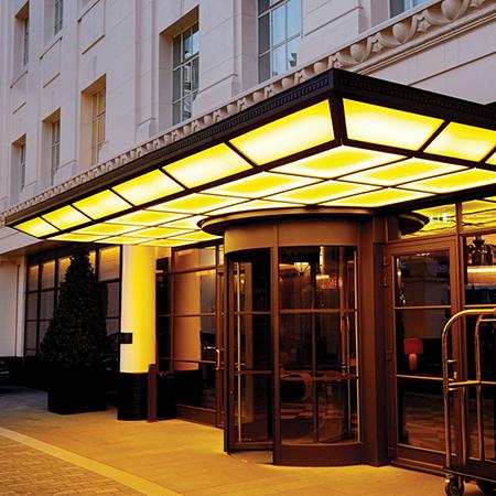 Art Deco Canopy At London Hotel