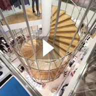 Video of creation of a bespoke spiral staircase