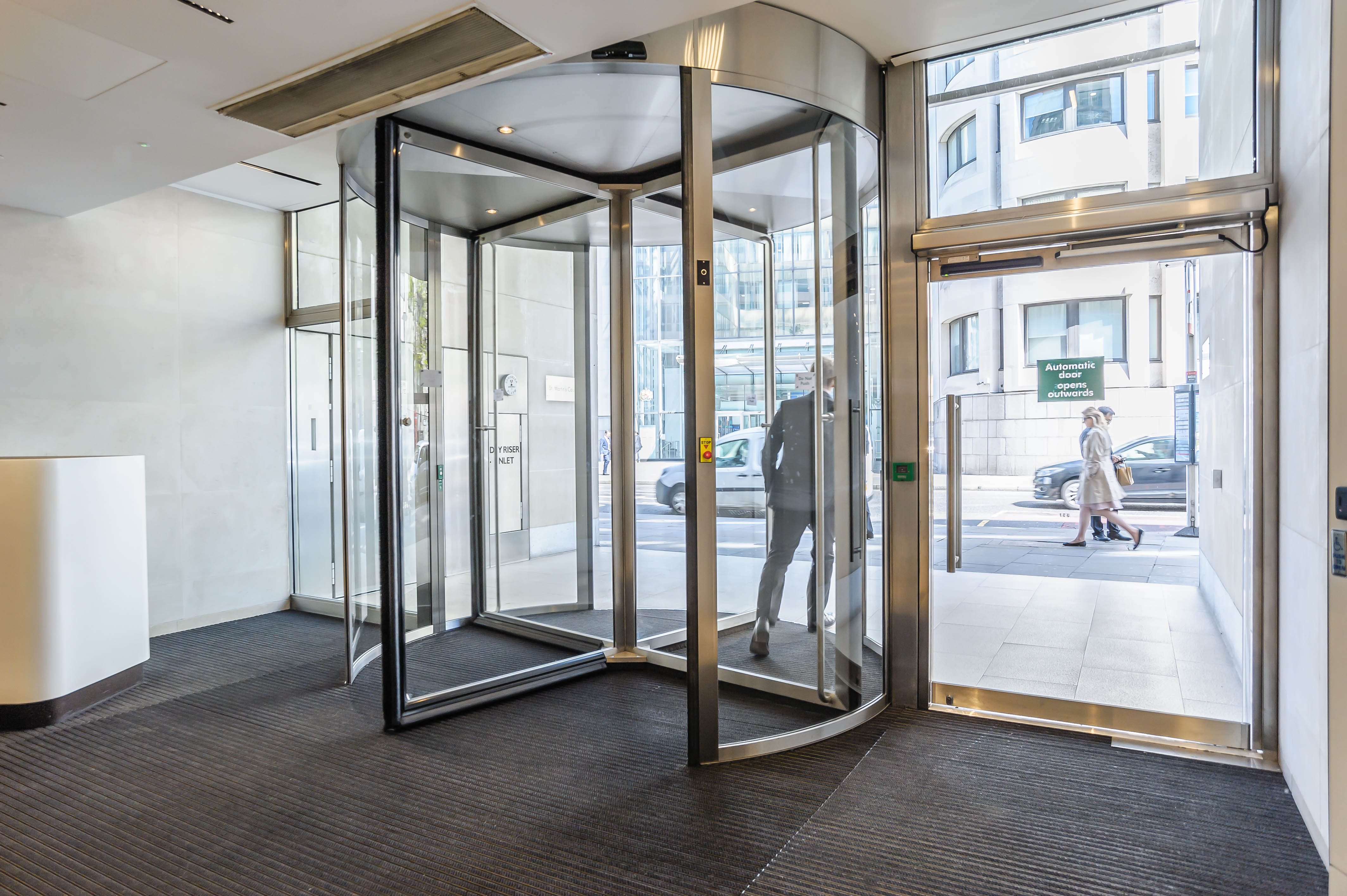 record uk's automatic door solutions for CBRE