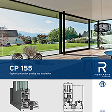 CP 155 robust aluminium sliding door for large openings
