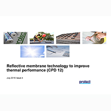 Reflective membrane technology to improve thermal performance