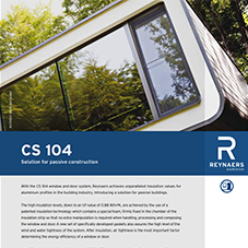 CS 104 high thermal aluminium windows and doors