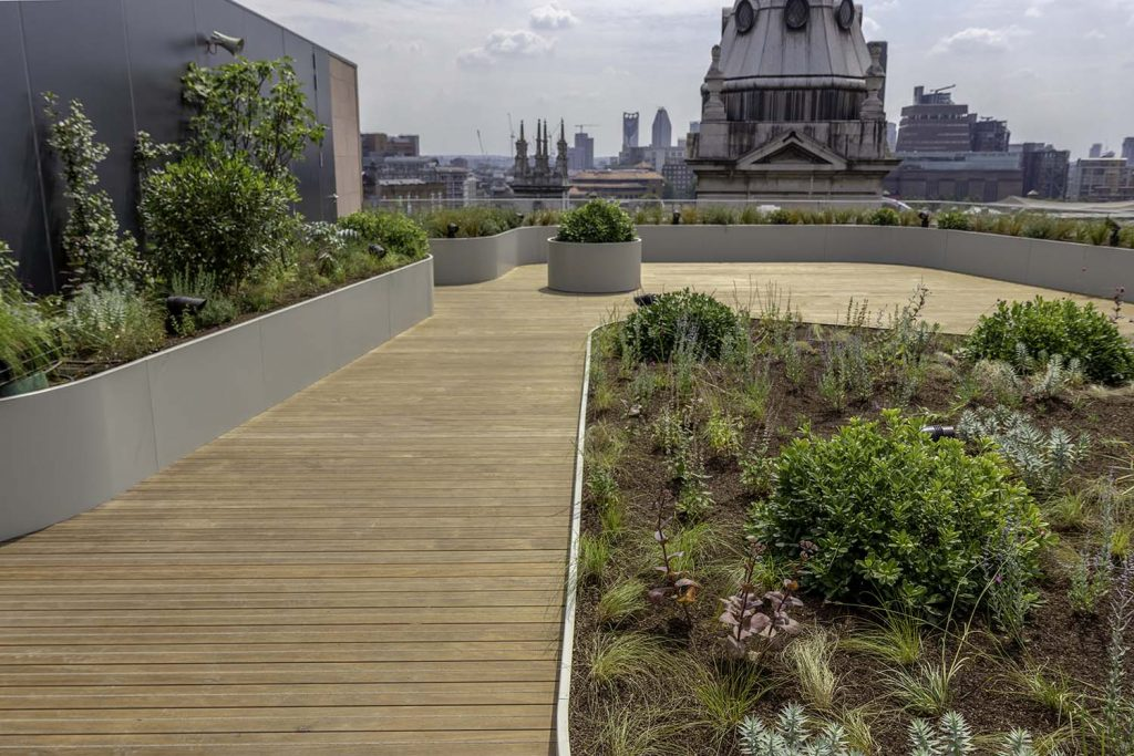 GRAD decking for stylish new roof terrace on 2-6 Cannon Street