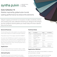 Colour Collections 15 Data Sheet