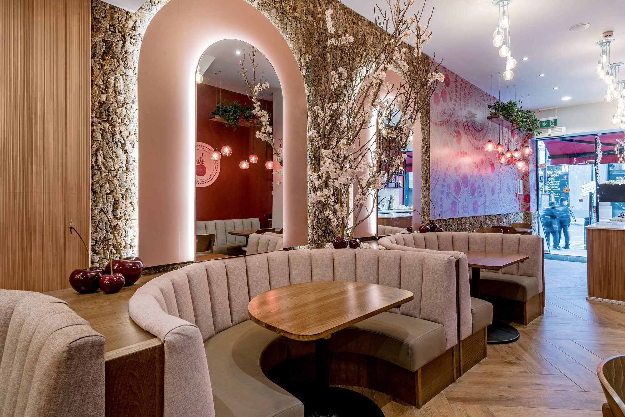 Vtec's Cork Wall Tiles in Restaurant Refurb