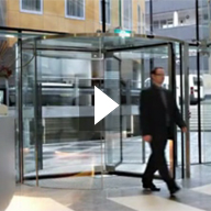 Crystal Tourniket Revolving Door Video