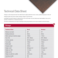 SIGnature Clay Vintage Data Sheet