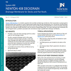 NEWTON 408 DECKDRAIN - Drainage Membrane for Decks and Flat Roofs