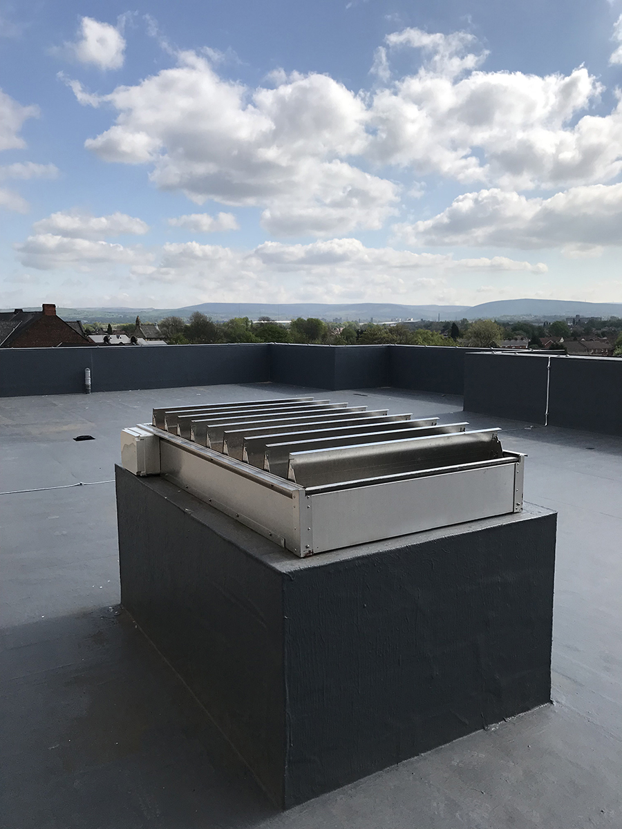 Dyer Mechanical smoke ventilation for Droylsden Marina apartments