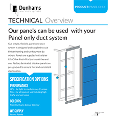 Panel only duct system