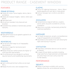 Casement Windows Specification Guide