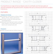 Cavity Closer Specification Guide