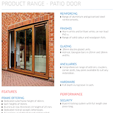 Patio Door Specification Guide