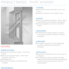Pivot Window Specification Guide