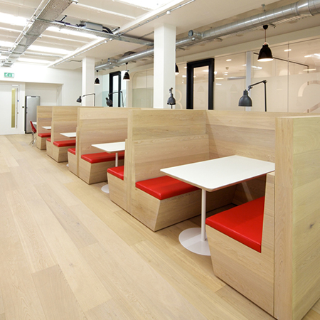 Ultra Modern Oak Floor For Office Canteen
