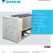 EWAD-CZXS/XL: Air cooled screw inverter chiller