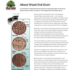 About Wood End Grain