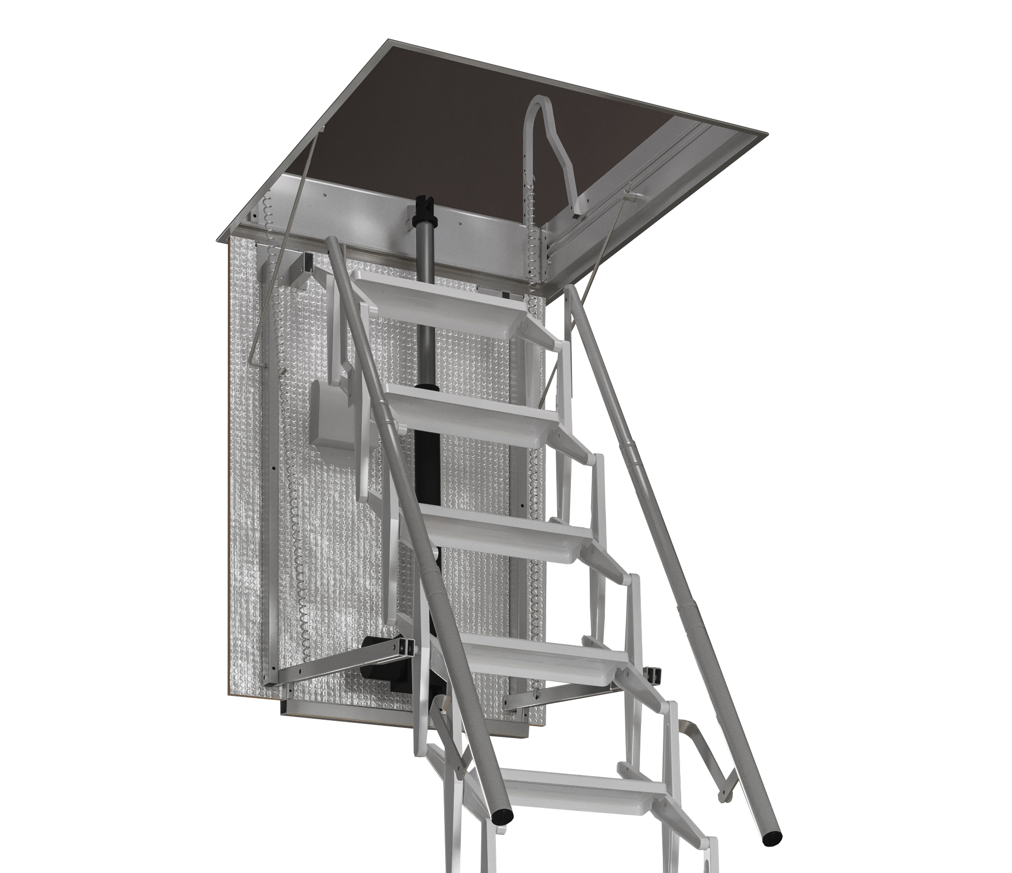 Escalmatic electric loft ladder has NBS specification