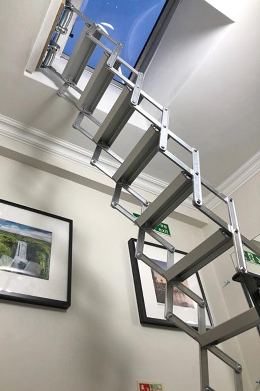 Compact Piccolo Premier Loft Ladder perfect for fire escape