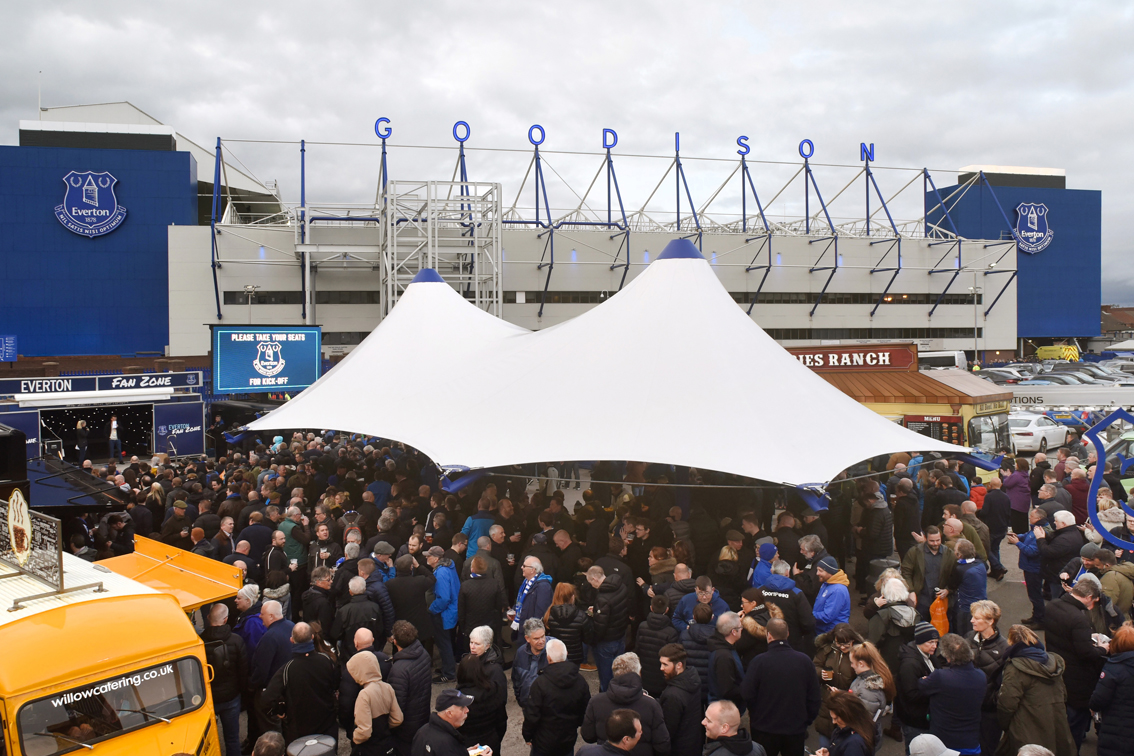 Broxap canopy for Everton Football Club