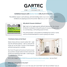 Gartec Home Lifts at Build It Bicester 2018