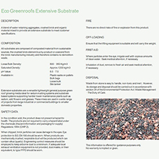 Eco Greenroofs Extensive Substrate Data Sheet